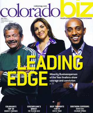 Sky Blue Builders on cover of Colorado Biz