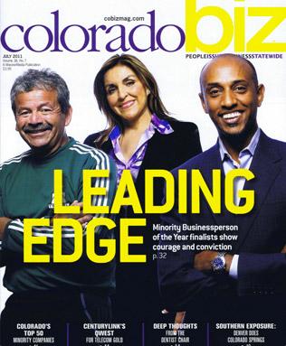 Sky Blue Builders on cover of Colorado Biz